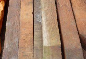FSC hardhouten palen 275x7x7cm