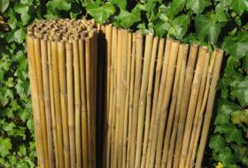 Bamboemat dalian naturel.