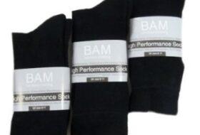 Zwarte bamboesokken.