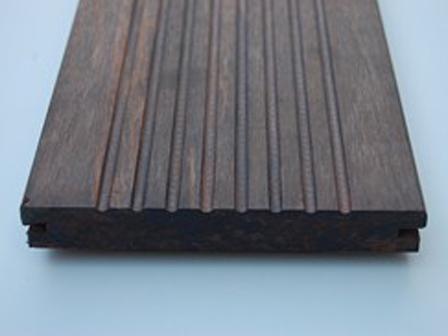 Terrasplank geperst bamboe, 1 zijde vlak
