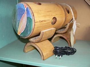 Bamboelamp liggend (40cm)