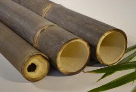 Indonesische bamboepalen zwart.