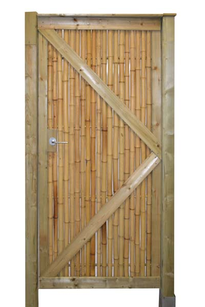 Bamboepoortdeur Trend naturel.