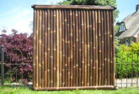 Bamboescherm narita zwart