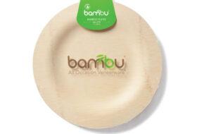 Bambu picknickborden, 8 stuks
