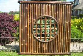 Bamboe schermen zwart
