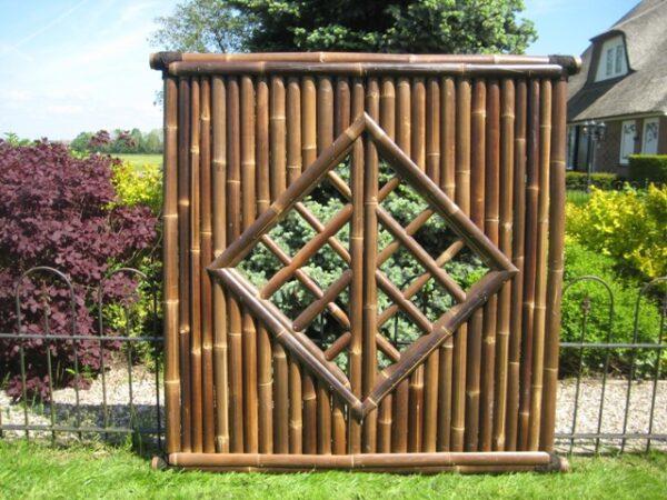 Bamboescherm Mite Zwart 180 x 180