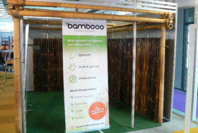Project bamboe stand op maat.