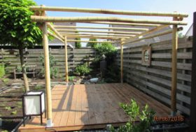 Project bamboe pergola.