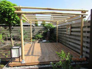 Project bamboe pergola.