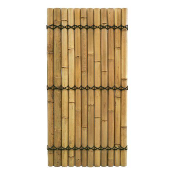 Bamboescherm Giant naturel gehalveerd.