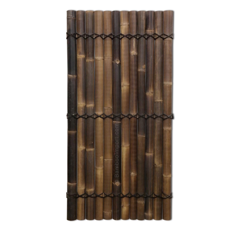 Bamboescherm giant zwart gehalveerd