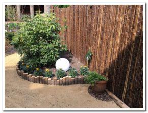 bamboe afscheiding met Panda matten