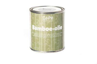 Blik met bamboe-olie