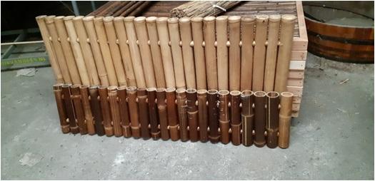 bamboescherm jumbo zwart